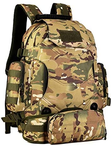 ZhaJunBag Military Tactical Backpack Camping Bags Mountaineering Bag Men's Hiking Rucksack Travel Backpack Waist Pack