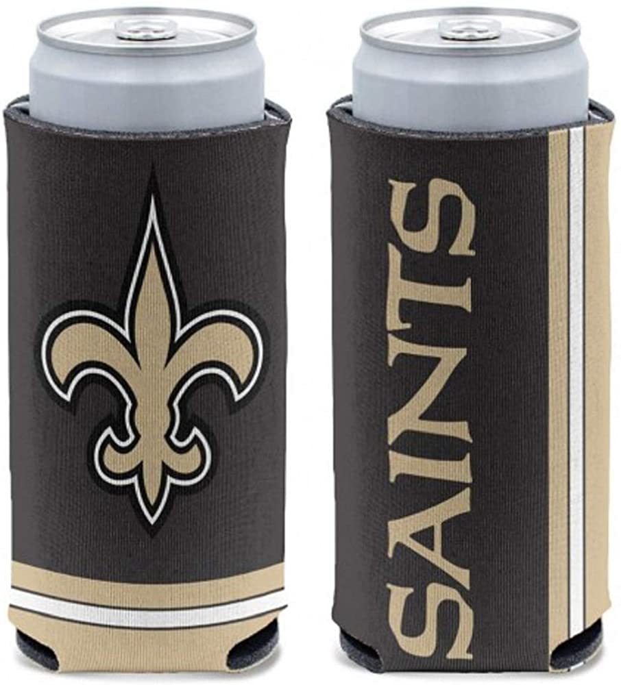 WinCraft NFL New Orleans Saints Slim Can Cooler, Team Colors, One Size