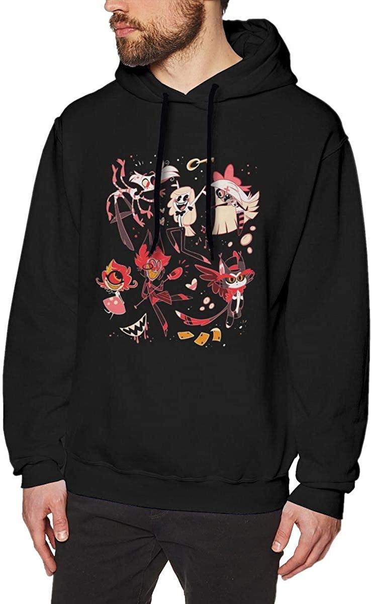 JINZ Hazbin Hotel Men's Sweater Classic Style Pullover Hoodie Outwear Long Sleeve