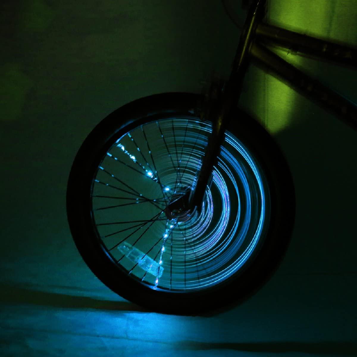 Brightz SpokeBrightz LED Bicycle Spoke Accessory Light (for 1 Wheel), Blue