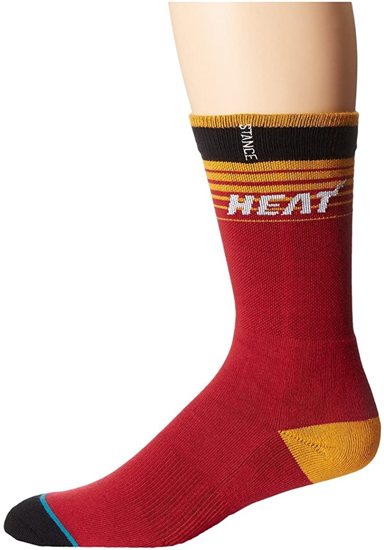 Stance Mens Heat Casual Logo Crew Socks