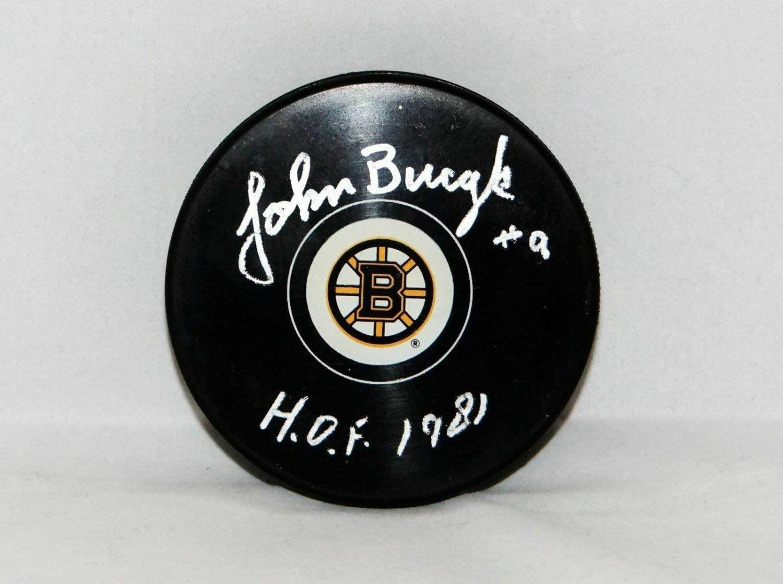 John Bucyk Autographed Signed Boston Bruins Hockey Puck With HOF - JSA W Auth
