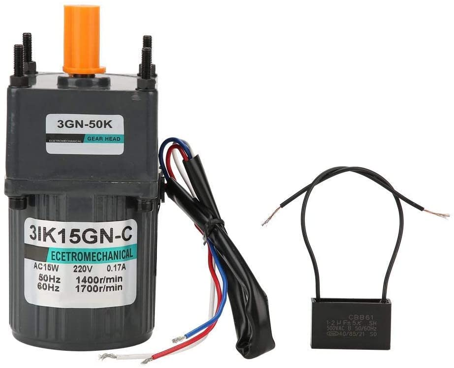 WXQ-XQ Large Moment of Force Metal Gear Motor Low Speed CW/CCW 220V AC 15W