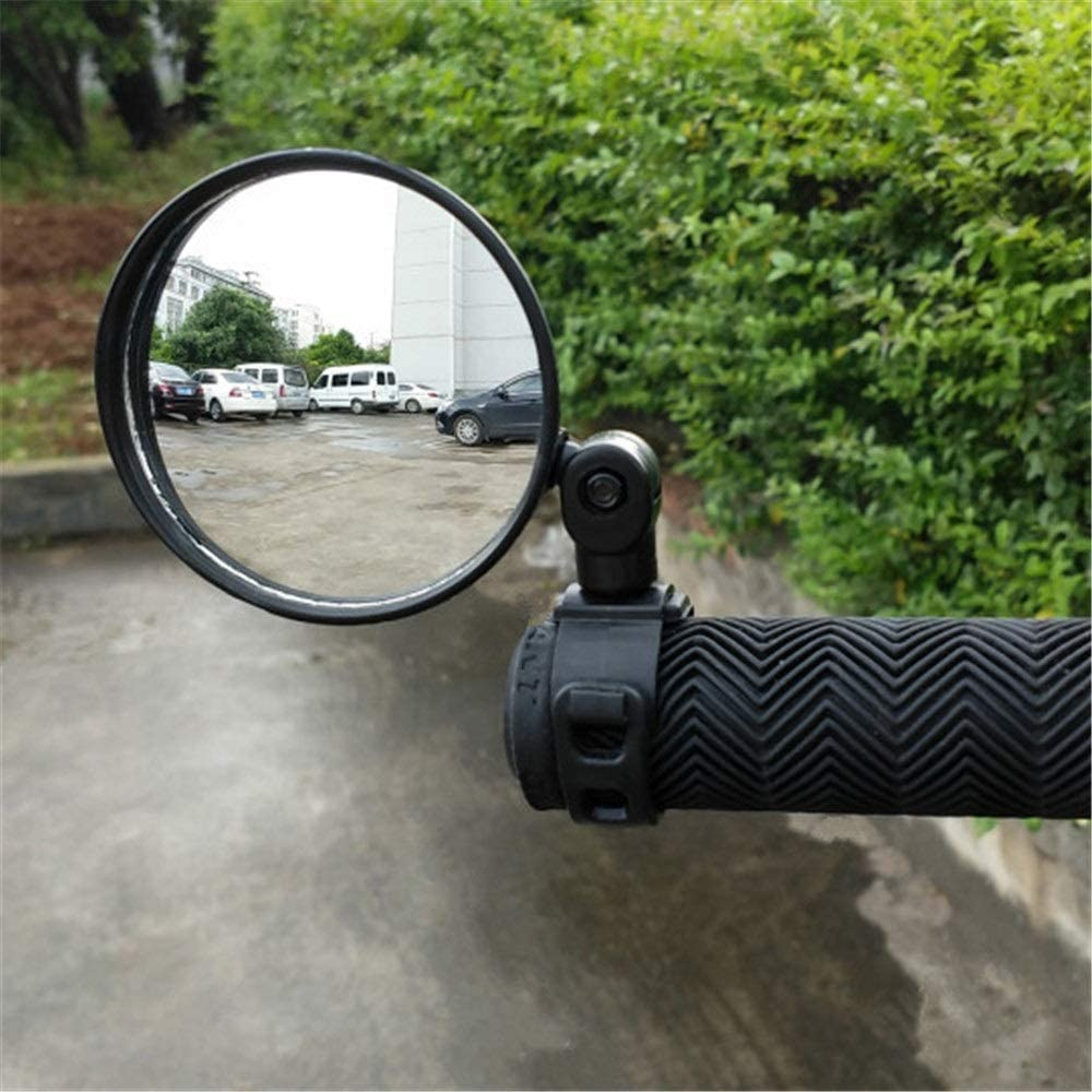 Bicycle Rearview Mirror Left Right Universal Safe Cycling Riding Bicycle Bike Rear View Mirror, Convex Reflector Mirror with Wide Angle Lens for Road Bike Mountain Bike Cycling Equipment