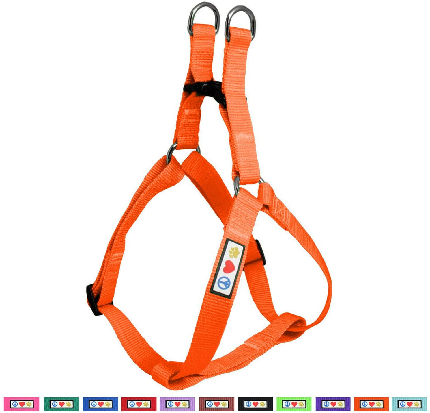 Pawtitas Pet Adjustable Solid Color Step in Puppy/Dog Harness 6 feet Matching Collar and Harness Sold Separately