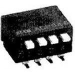 ADP0804, Switch DIP Off ON SPST 8 Piano 0.1A 24VDC 0.4VA PC Pins 2.54mm Thru-Hole (25 Items)