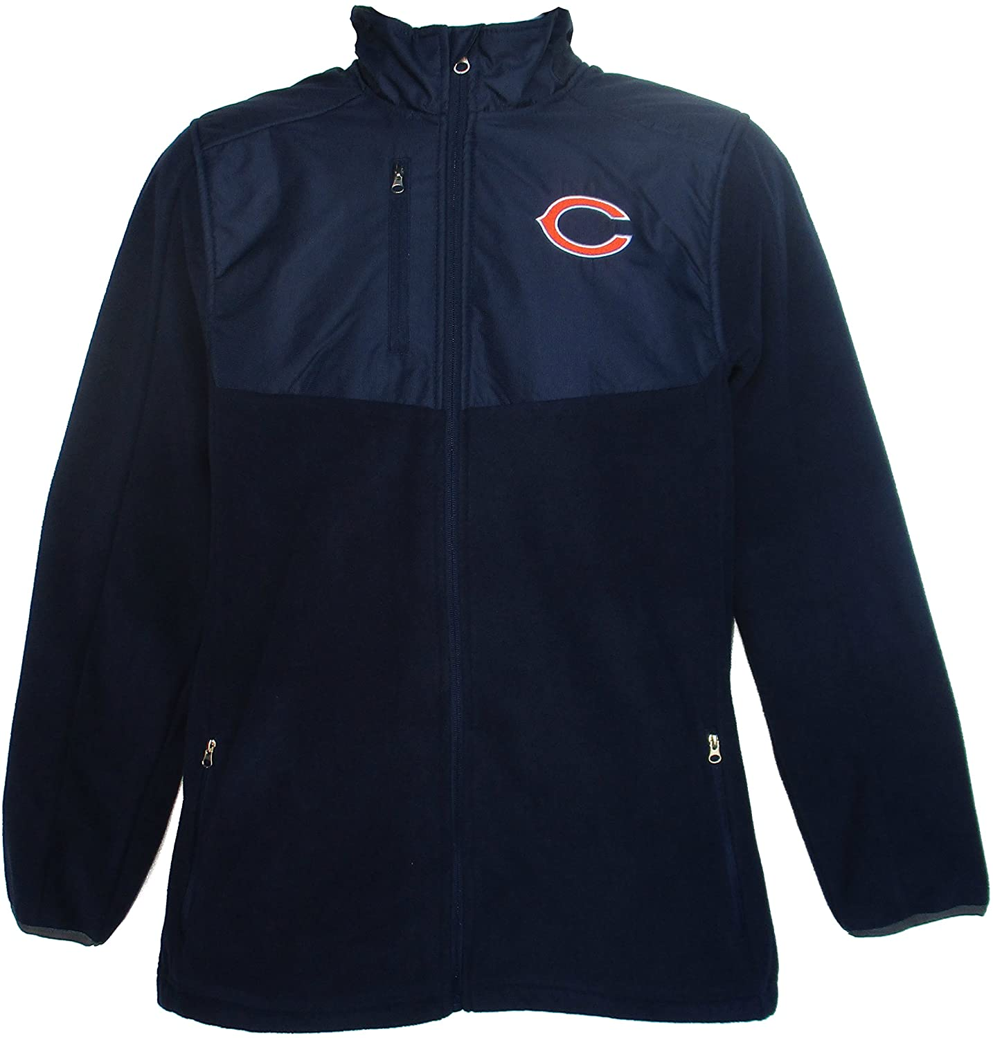 Chicago Bears Youth Size X-Large (18) Full Zip Jacket - Navy Blue