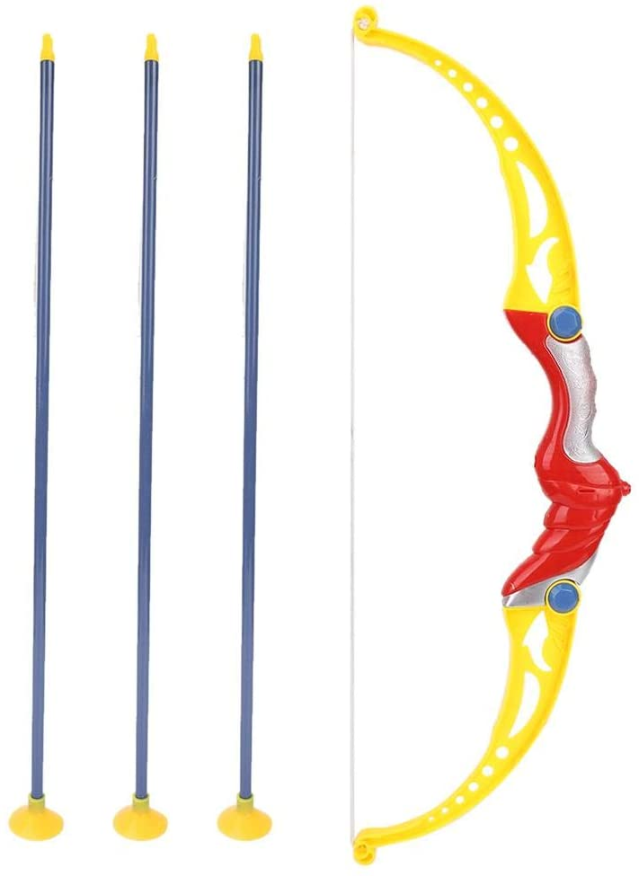 Bnineteenteam Kids Bow and Arrow Toy with 3 Suction Cup Arrows