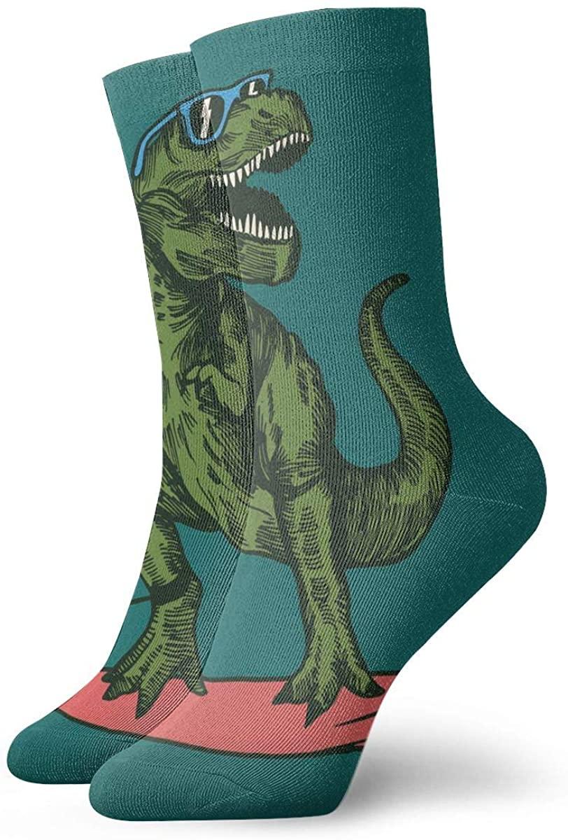 Field Rain Dinosaur Surfer Sunglasses Unisex Casual Stockings Sport Athletic Crew Socks