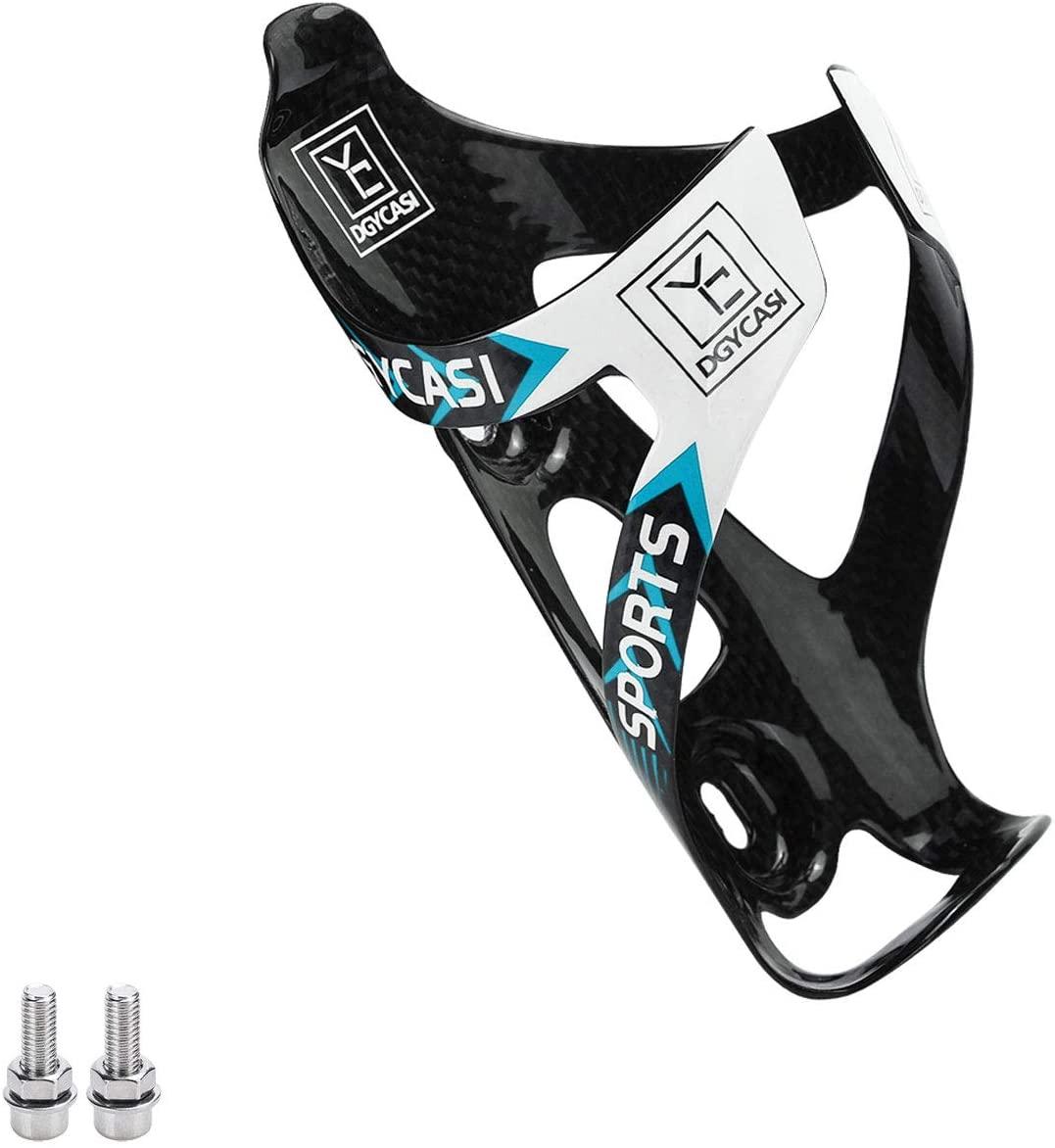 Ultra Light Full Carbon Fiber Bicycle Bike Light Drink Water Bottle Cage Holder for Triathlon & MTB Fits Most Cycling Bottles