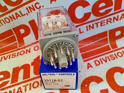 DELTROL CORP 20116-82 3 PDT, 120/240 VAC, 10 AMP, Relay, 24 VDC, 11 PIN