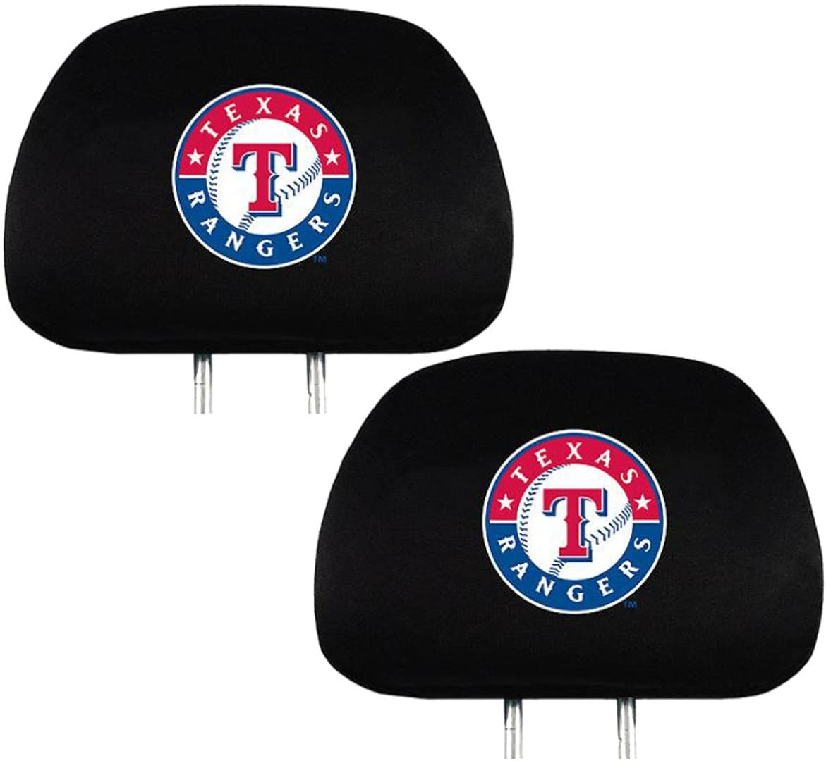 Team ProMark Fan Shop Baseball Team Headrest Cover Bundle (Texas Rangers)