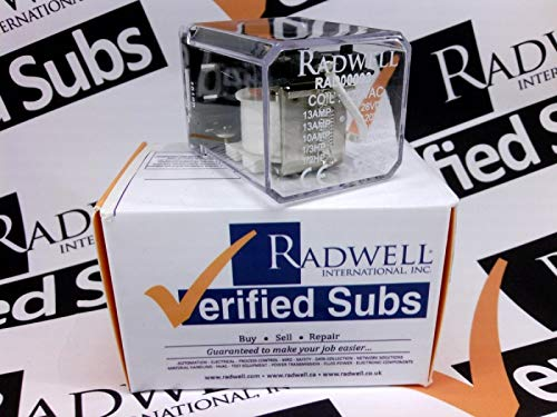 RADWELL VERIFIED SUBSTITUTE 2006184SUB 13A SPDT Plug in Relay- Replaces DELTROL Corp PN: 2006184, Relay - 120VAC