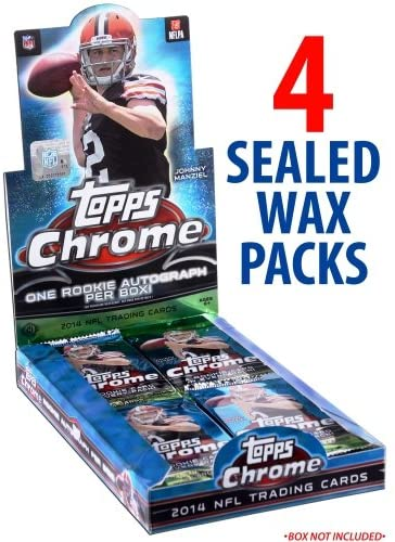 Fanatics Authentic 2014 Topps Chrome Football Factory Sealed 4 Pack Lot