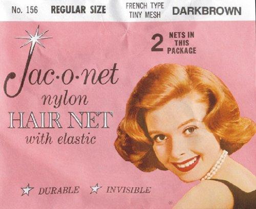 Jac-O-Net French Type, Tiny Mesh Hair Net--Regular Size, Dark Brown,2 Net Per Pack [Pack of 12]
