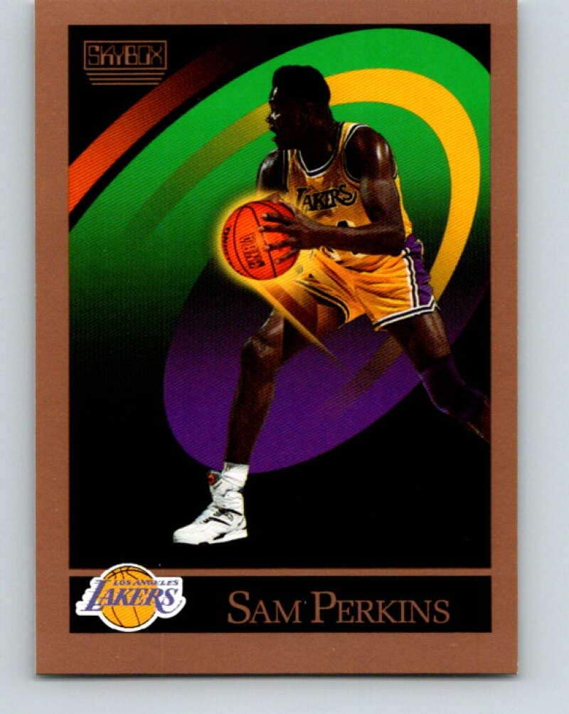 1990-91 SkyBox #391 Sam Perkins Mint Basketball NBA Lakers