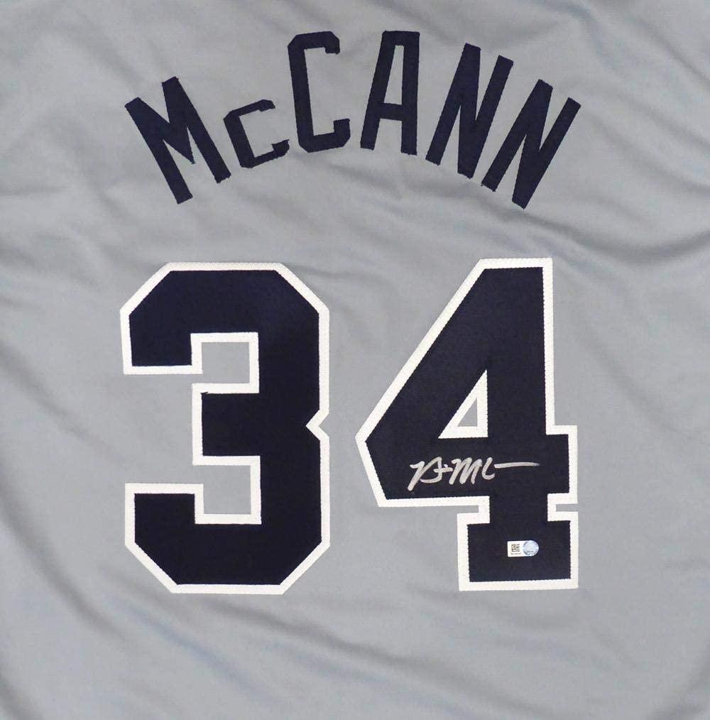 Signed Brian McCann Jersey - Gray Holo Stock #141211 - Autographed MLB Jerseys