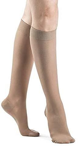 SIGVARIS Women's DYNAVEN Closed Toe Calf-High Socks 20-30mmHg