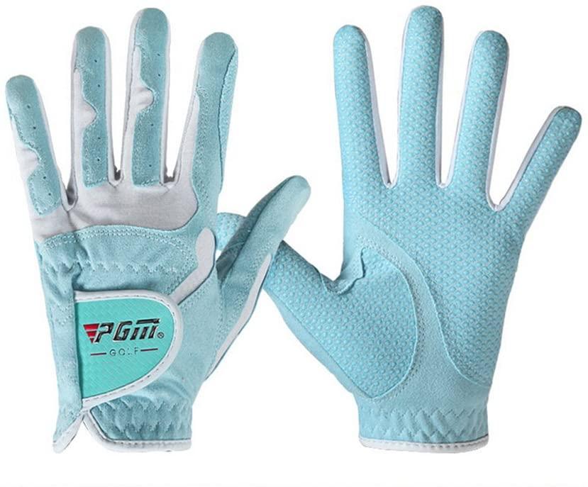 PGM Ladies Golf Gloves-Microfiber Gloves, Anti-Slip,1 Pair