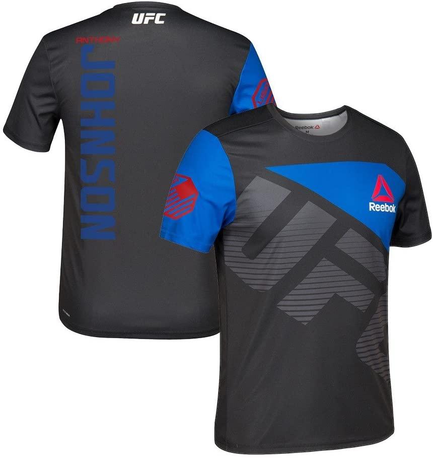 adidas Anthony Johnson UFC Reebok Black Royal Official Fight Kit Walkout Jersey Men's