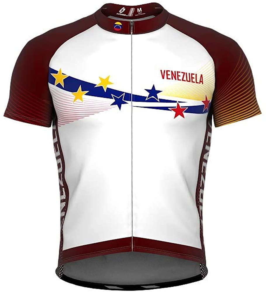 ScudoPro Venezuela 7 Stars Short Sleeve Cycling Jersey for Women