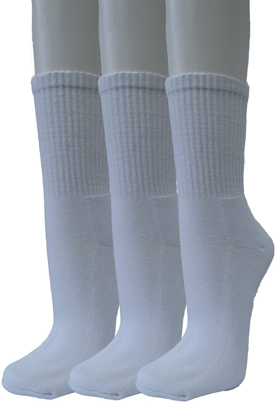 COUVER Unisex Cushion Running Athletic Crew Socks - High Ankle/Quarter