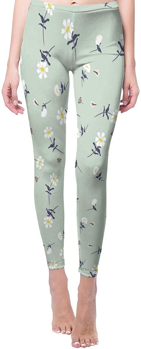 Daisy Flowers Yoga Pants Womens High Waist Sport Leggings