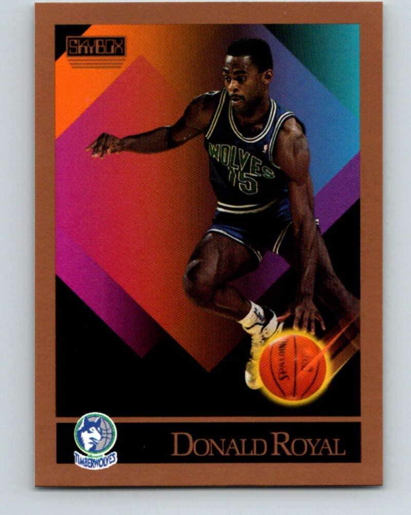 1990-91 SkyBox #174 Donald Royal Mint Basketball NBA RC Rookie SP Timberwolves