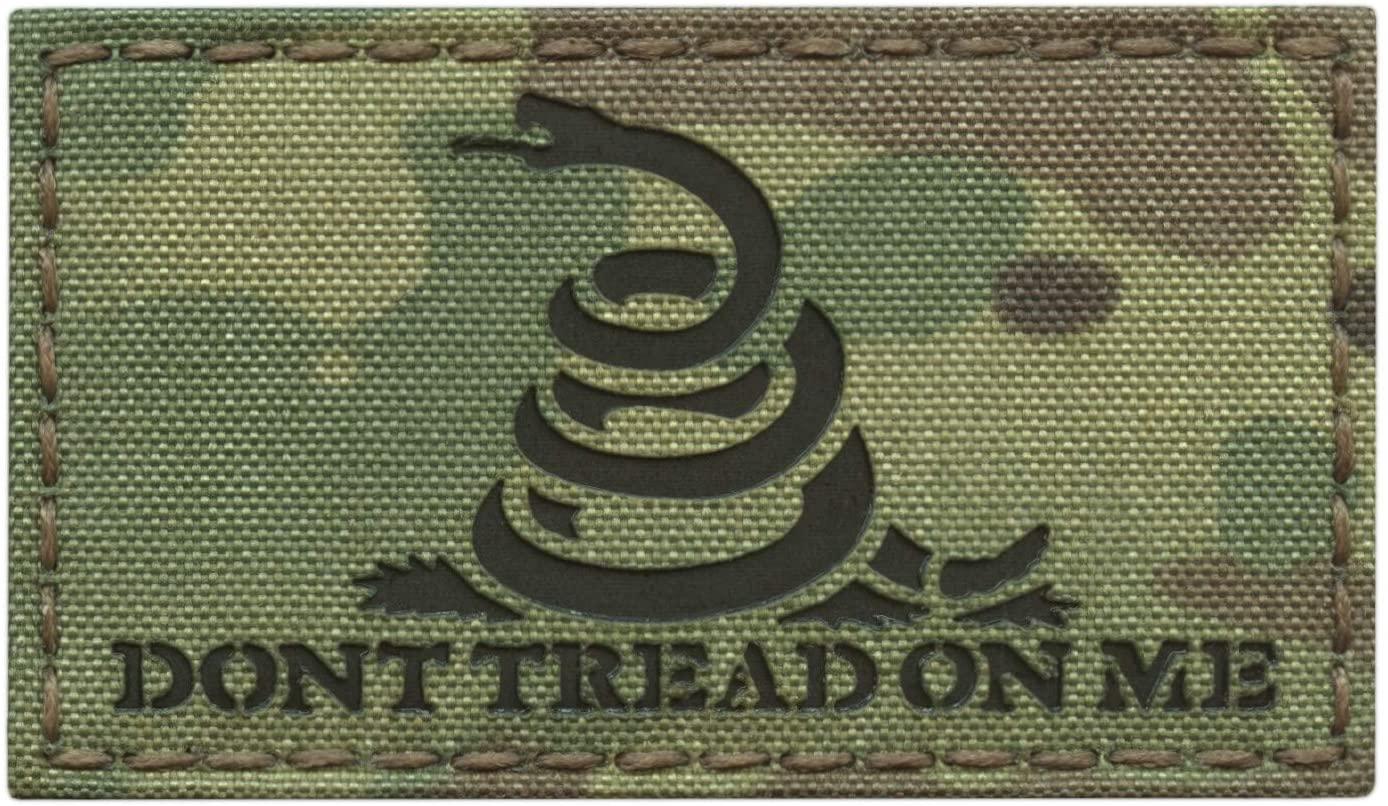 IR Multicam Gadsden Flag 2x3.5 America DTOM Dont Tread On Me Snake ArmyTactical Morale Fastener Patch