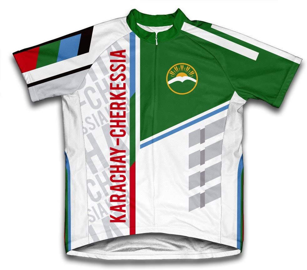 ScudoPro Karachay-Cherkessia Short Sleeve Cycling Jersey for Men