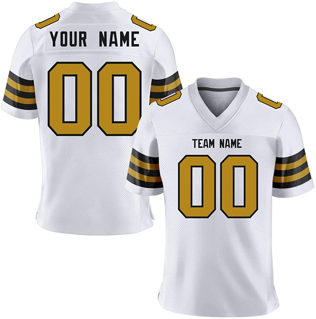 Custom Mesh Stitched Football Jersey Uniforms Personalized Team Name and Number for Adult/Youth/Women