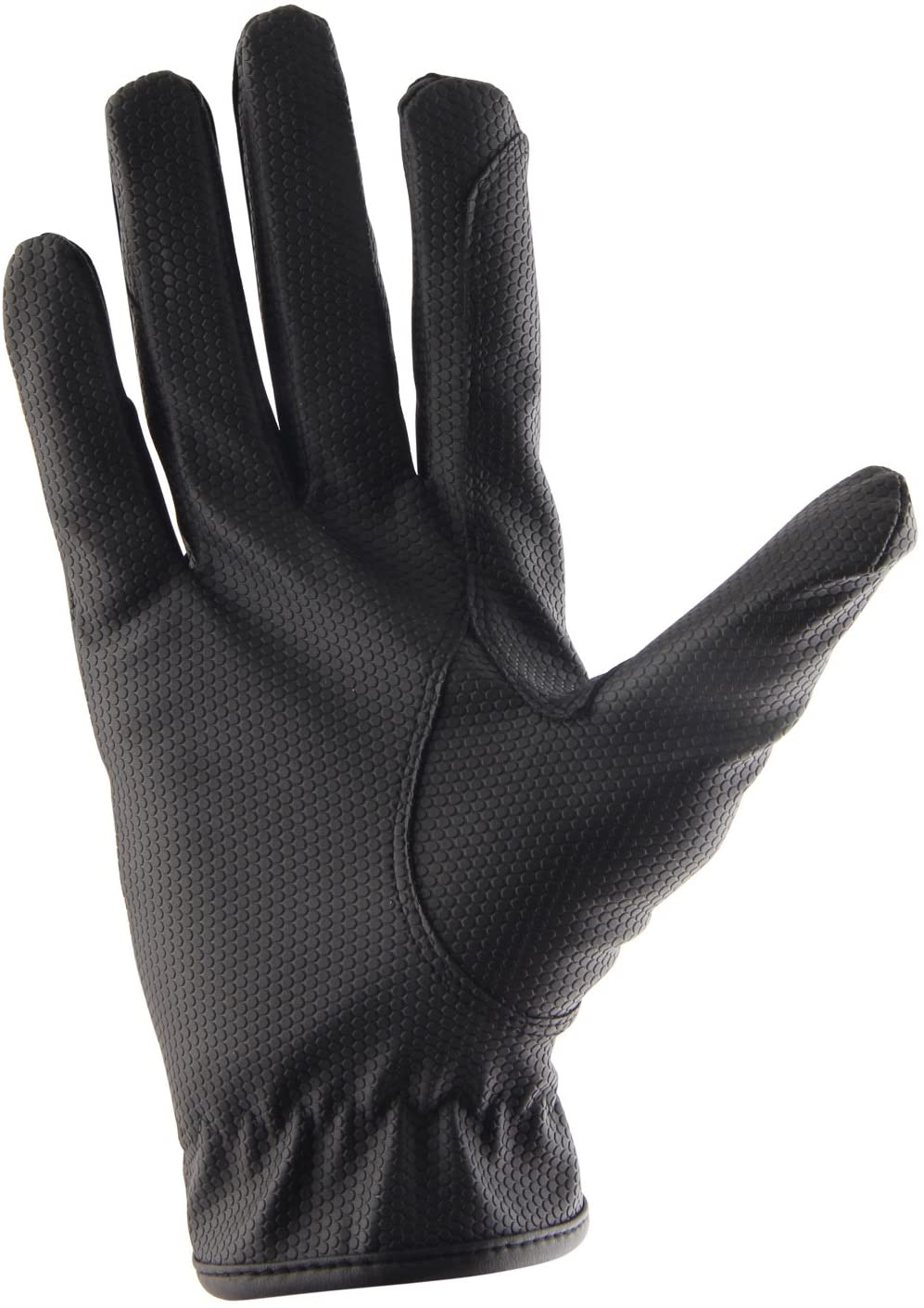 Allness Leather Adults Men Gents Horse Equestrian Polo Bike Bicycle Riding Black Gloves
