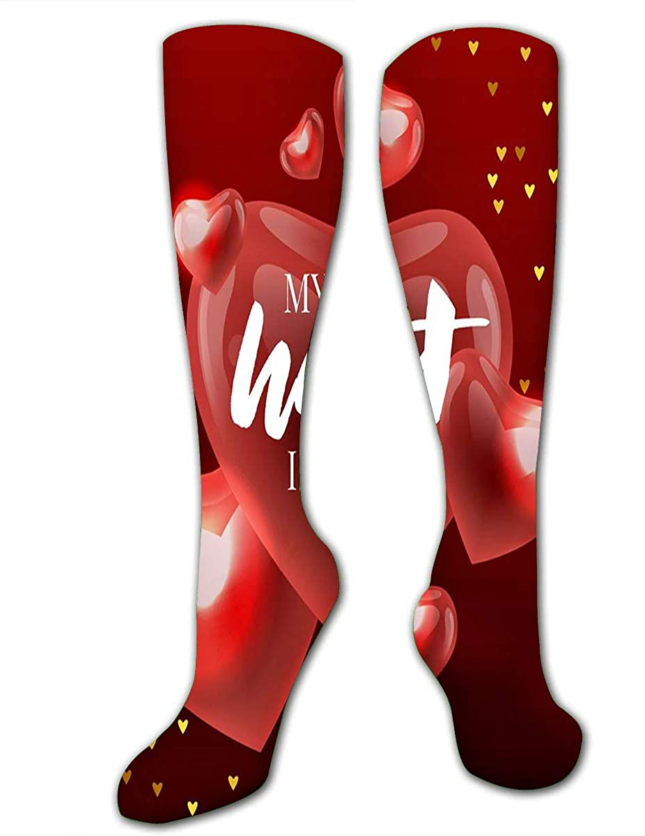 Athletic Socks For Men Women Tigers And Tropical Leaves Trendy Knee High Sport S