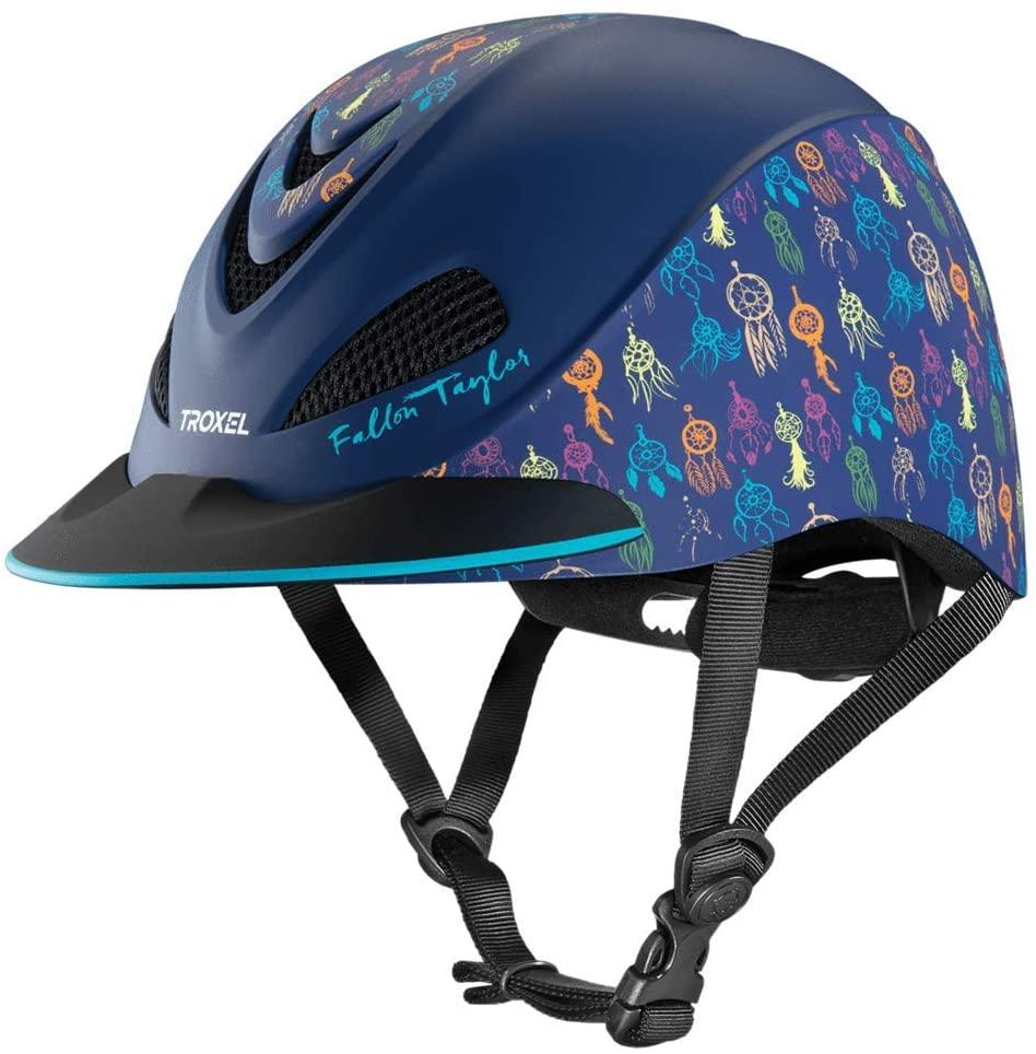 Troxel Fallon Taylor Navy Dreamcatcher Horse Riding Western Helmet Low Profile Adjustable