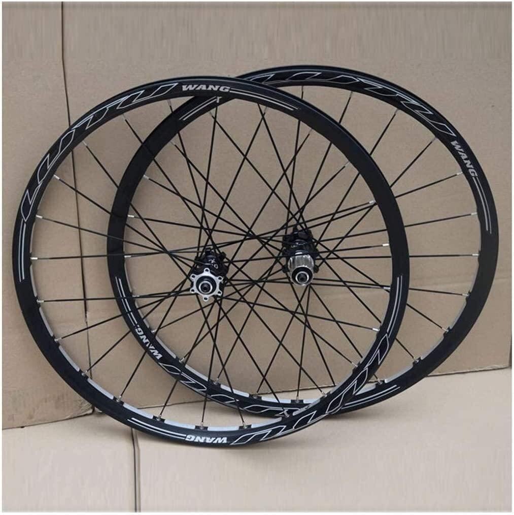 BZLLW Bike Wheel,MTB Bicycle Wheel 26Inch Disc Brake Double Wall Rims Bike Wheelset,QR Sealed Bearing 24H for Cassette Hub 8-11 Speed,Straight Pull
