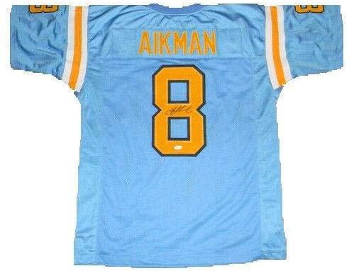 Troy Aikman Signed Jersey - #8 Blue - JSA Certified - Autographed College Jerseys