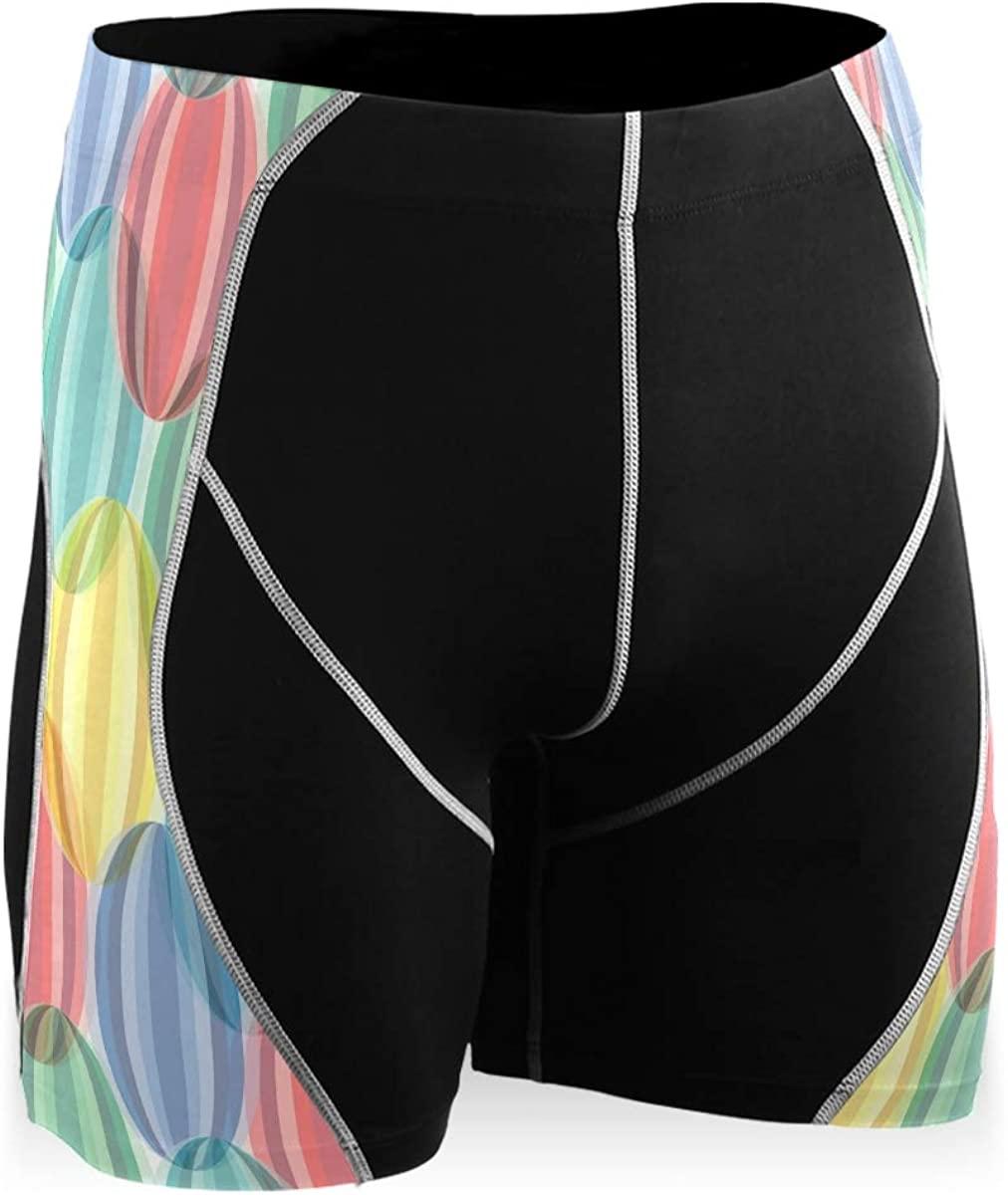 Ladninag Retro Cartoon Cute Chic Watermelon Men's Compression Shorts Running Yoga Cool Dry Baselayer Youth