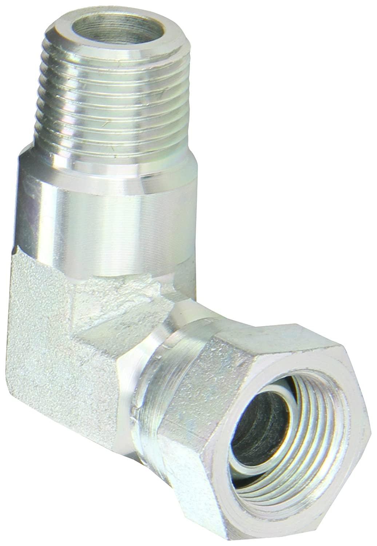Eaton Aeroquip 2047-6-6S Steel Pipe Fitting, 90 Degree Elbow, 3/8