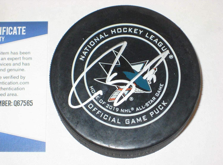 Martin Jones Signed Puck - Official w Beckett COA - Beckett Authentication - Autographed NHL Pucks