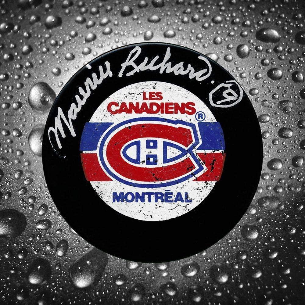 Maurice Richard Autographed Puck - Autographed NHL Pucks