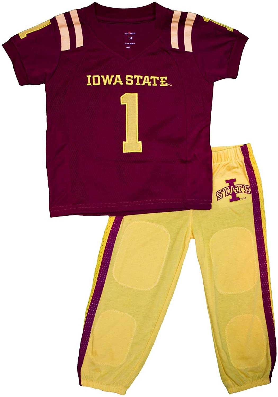 Fast Asleep Iowa State Cyclones Uniform Pajama Set New (7T) Yellow