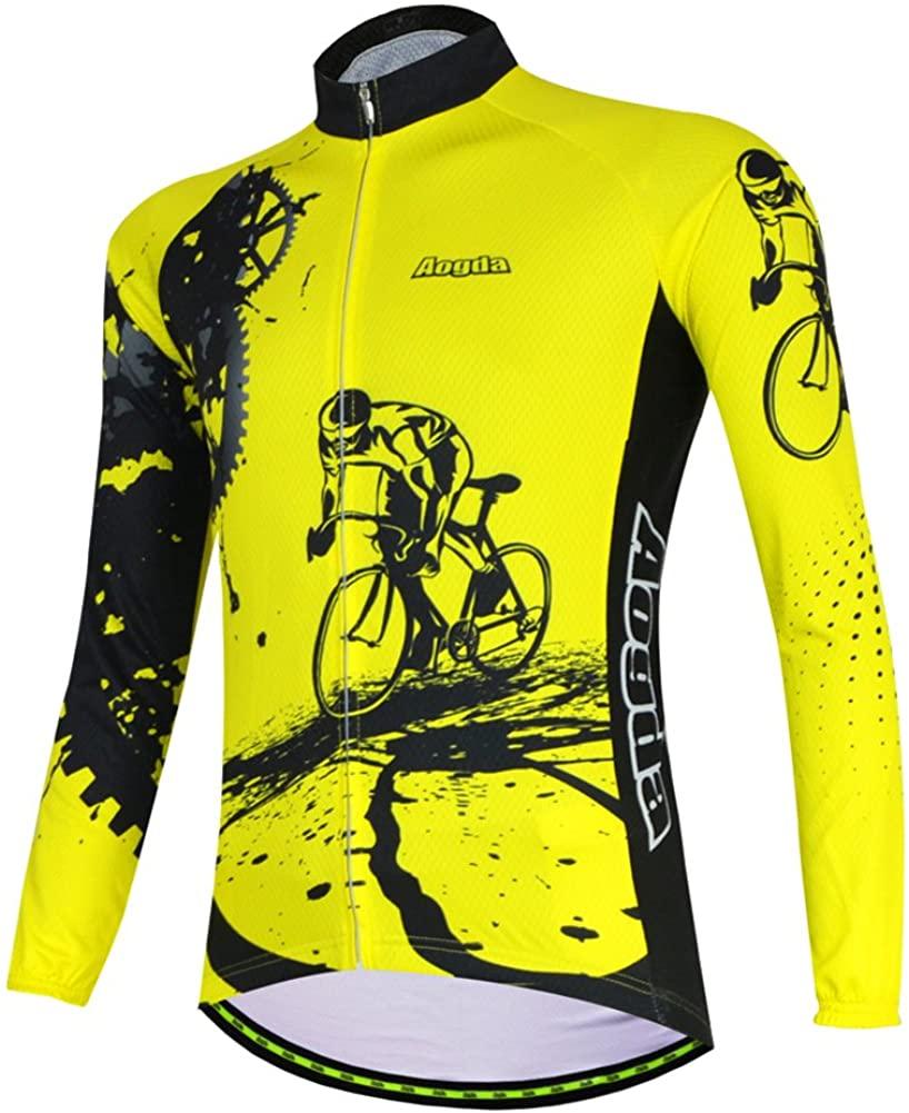 Aogda Cycling Jerseys Long Sleeves Women's Bike Shirts Team Biking Jacket Clothing Ladies