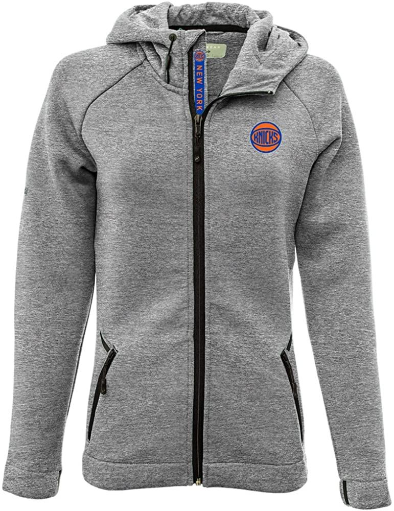 Levelwear LEY9R Adult Women Motion Insignia Full Zip Hooded Jacket, Heather Pebble, Large