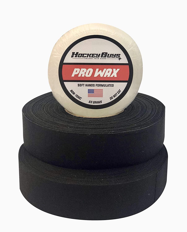HockeyGuys Pro Stick Wax and Two Rolls of Cloth Hockey Stick Tape