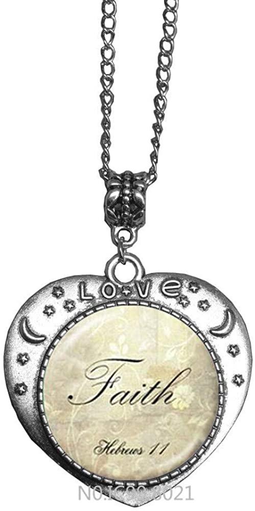 maoqunza Faith Necklace - Faith Jewelry - Motivational Necklace-Faith Necklace-Faith Jewelry-Inspirational Pendant necklac -RG306