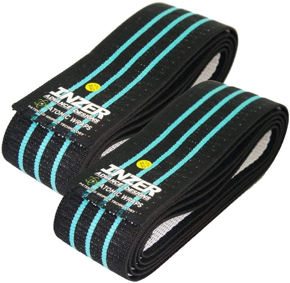 Inzer Atomic Knee Wraps (Pair) - Powerlifting Weightlifting Crossfit Strength Training (Blue, 3.0m)