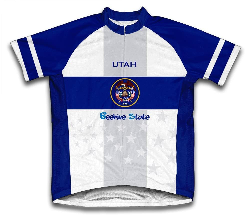 ScudoPro Utah Flag Short Sleeve Cycling Jersey for Youth