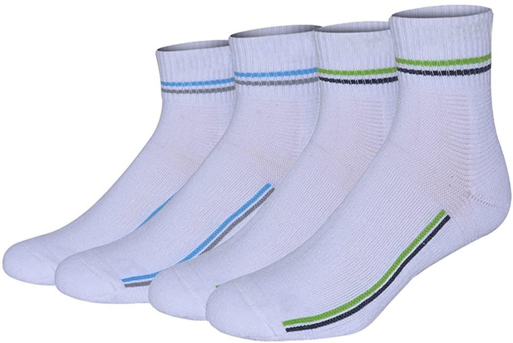 Combed Cotton Cushion Running Badminton Basketball Socks 4-Pack