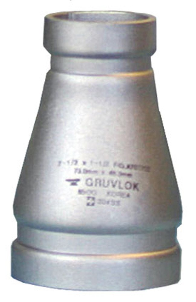 Anvil International 0390073328 Series A7072-SS04 Gruvlok 304 Stainless Steel Full Flow Concentric Reducer Fitting, 6