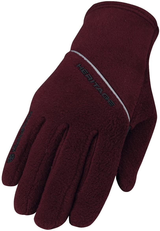Heritage polar stretch fleece glove plum size 6